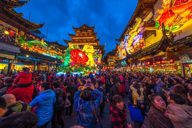 Nanjing Road, Shanghai, China royalty-vrije stock foto's