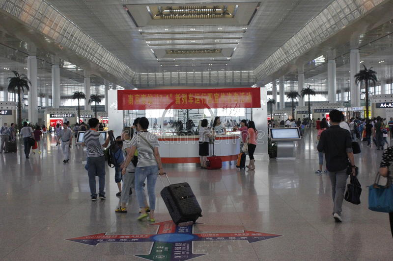 Download Nanjing South Railway Station Editorial Stock Photo - Image: 42140953