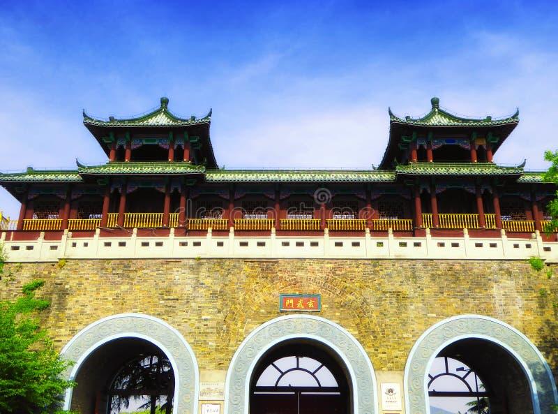 Nanjing-Stadtmauer Xuanwu-Tor stockfotos