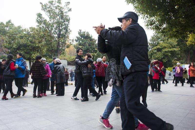 Nanjing tłumu kwadratowy taniec obrazy royalty free