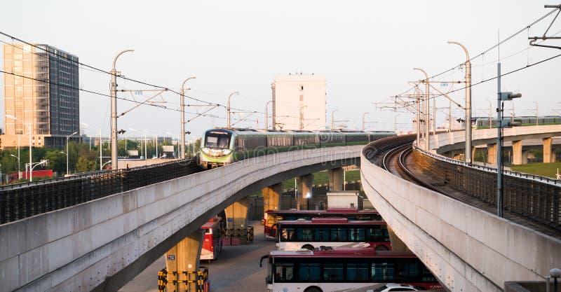 Nanjing tunnelbanalinje 3, Kina royaltyfri foto