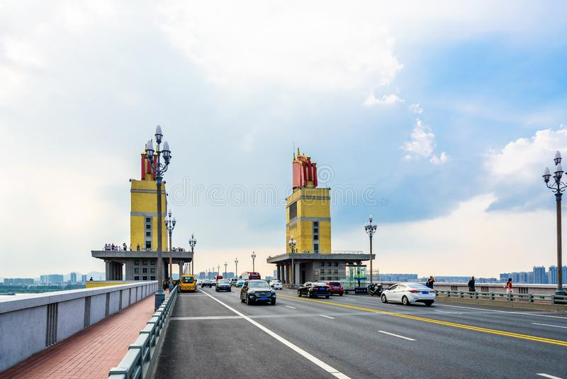 Nanjing Yangtze River Bridge royalty free stock photos