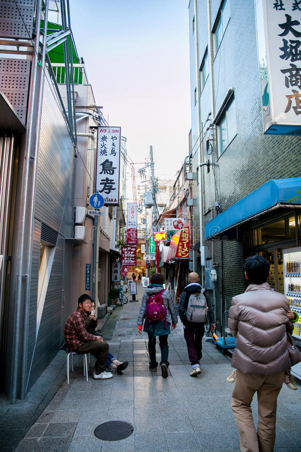 Nankinmachi är kineskvarteret i Kobe, Japan royaltyfri bild