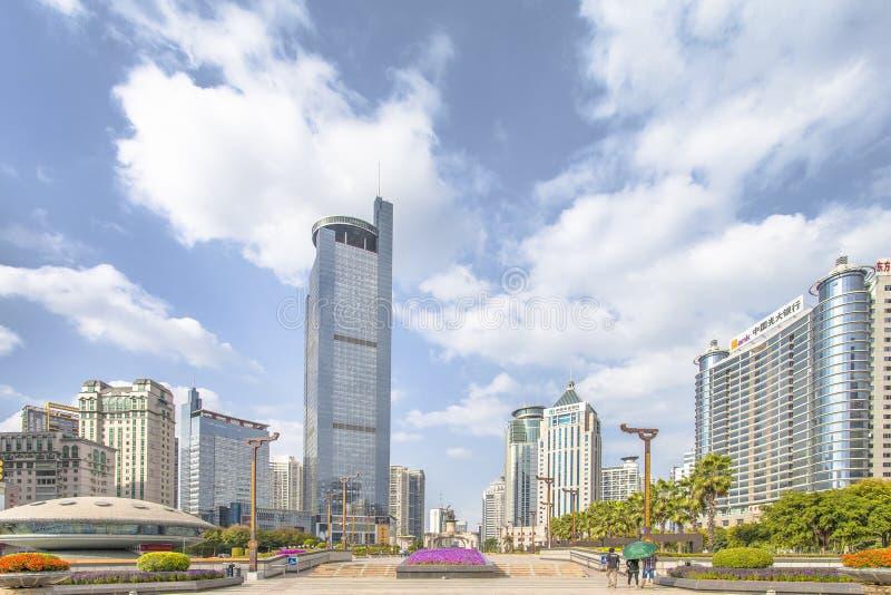 Nanning China-Nov 9 2016: Wuxiang fyrkant i huvudstaden av royaltyfri foto