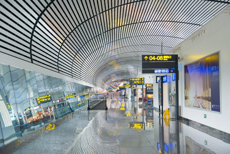 NANNING, CHINE - 12 OCTOBRE 2016 : Aéroport international de Nanning images libres de droits