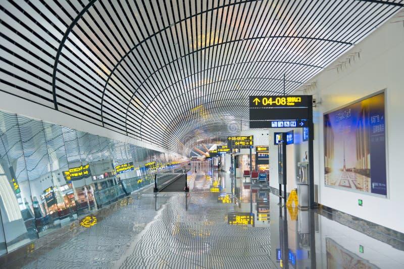 NANNING KINA - OKTOBER 12, 2016: Nanning internationell flygplats royaltyfria bilder