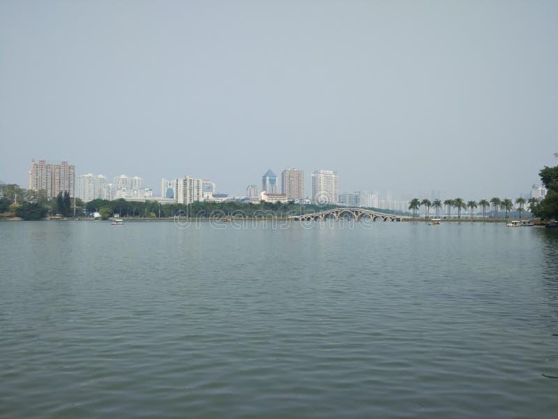 Nanning Nanhu park zdjęcia stock