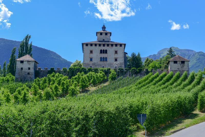 Nanno castle in the countryside of Non Valley on Italy. Nanno castle in the countryside of Non Valley on Trentino Alto Adige, Italy royalty free stock images