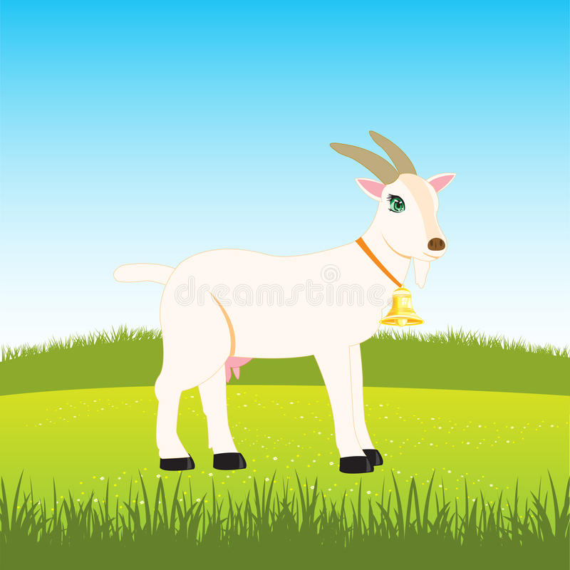 Free Nanny Goat On Field Royalty Free Stock Image - 63088196