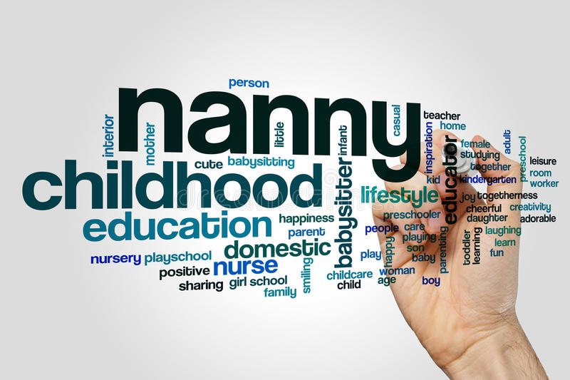 Nanny word cloud royalty free stock photo