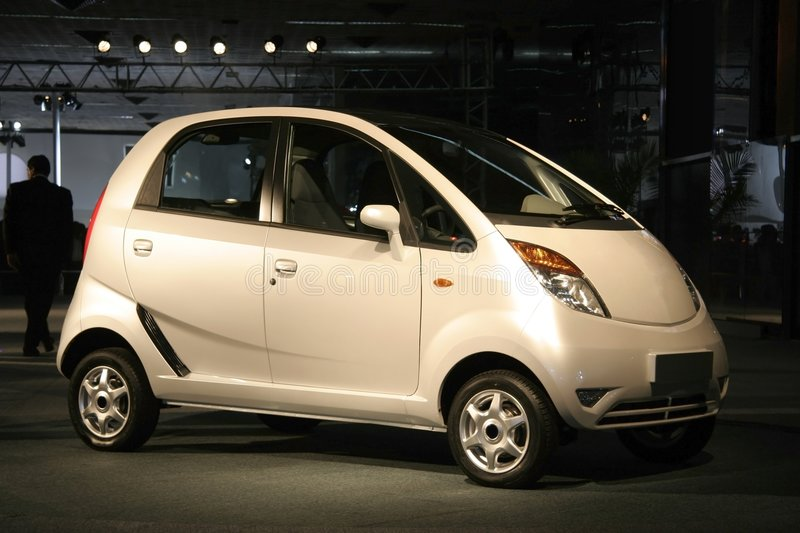 Nano at Auto expo in Delhi, stock photo