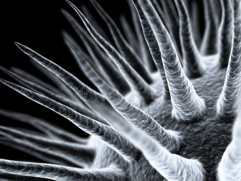 Nano-escale o vírus ilustração do vetor