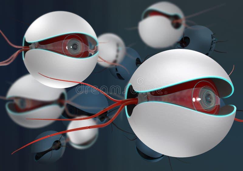 Nano larwy ilustracja wektor