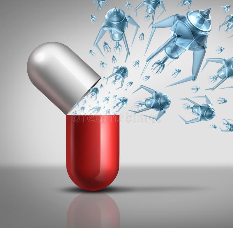 Nano Medicijn vector illustratie