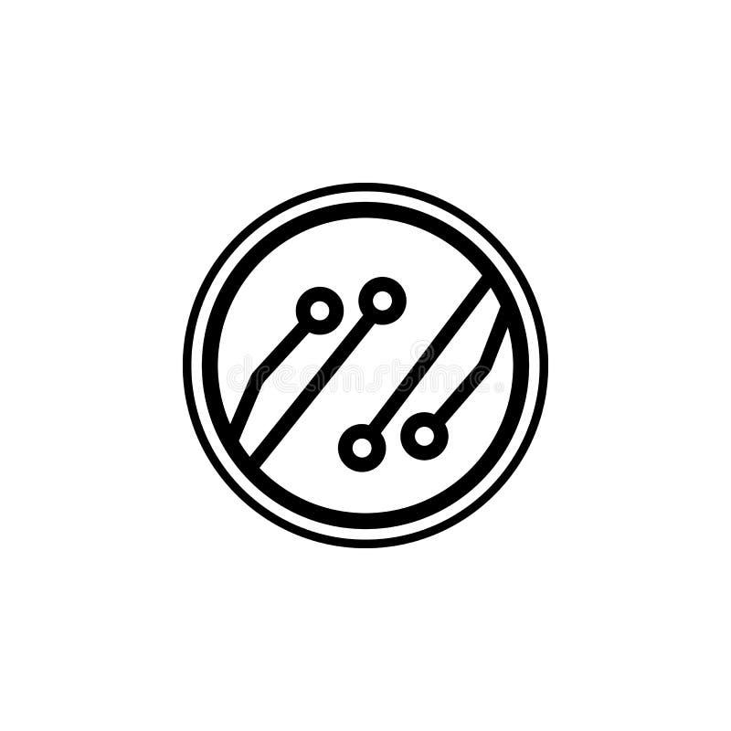 nano оптический значок Элемент значка доступа в интернет Наградной качественный значок графического дизайна Знаки и значок собран иллюстрация штока