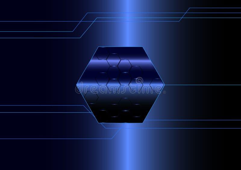 Nano samenvatting Dynamische beweging van digitale ruimte stock illustratie