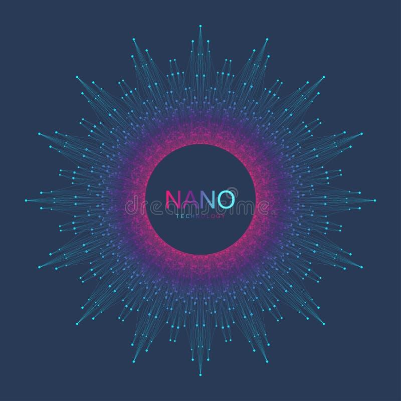 Nano technologia abstrakta tło Cyber technologii pojęcie Sztuczna inteligencja, rzeczywistość wirtualna, bionika royalty ilustracja
