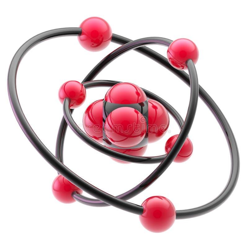 Nano technologia emblemat jako atomowa struktura royalty ilustracja