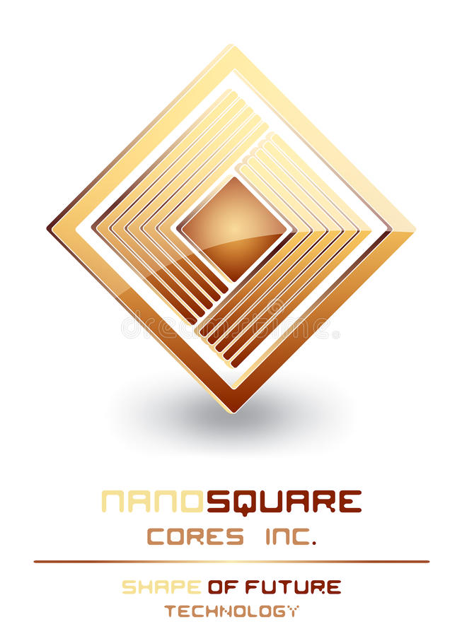 Download Nano Technology Processor Cores Logo Sign Stock Vector - Image: 21103519