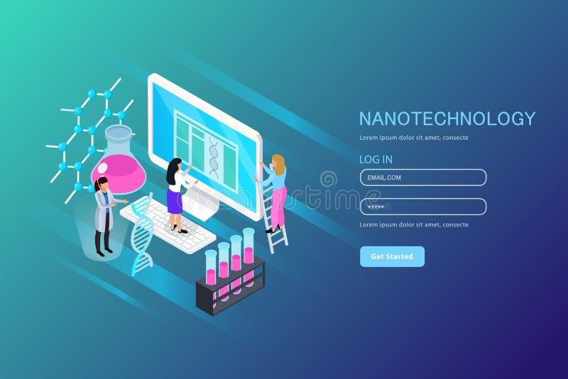 Nano Technology Isometric Composition vector illustration