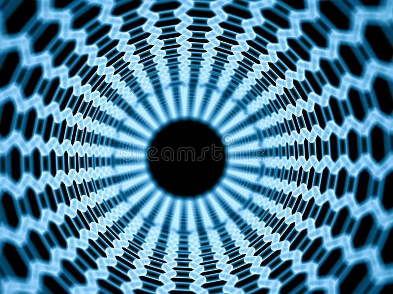Nano tubka ilustracja wektor
