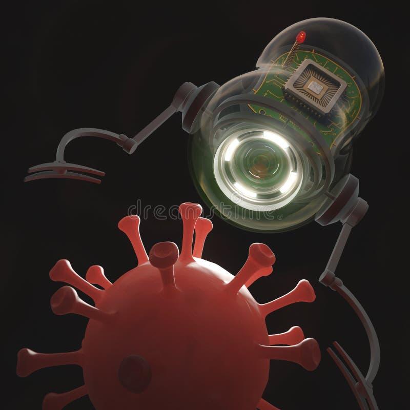 Nanobot x Virus stock foto