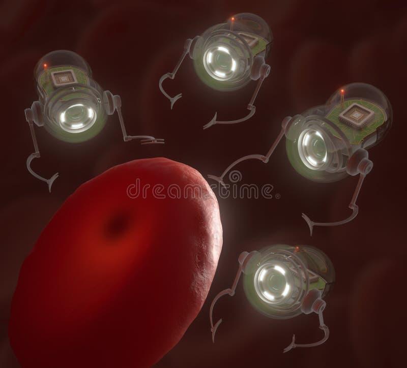 nanobots vector illustratie