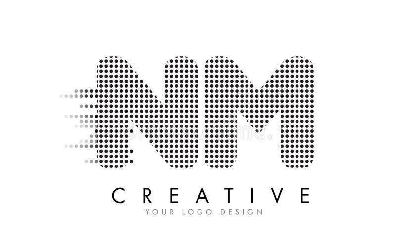 Nanometro N m. Letter Logo con i punti e le tracce neri royalty illustrazione gratis