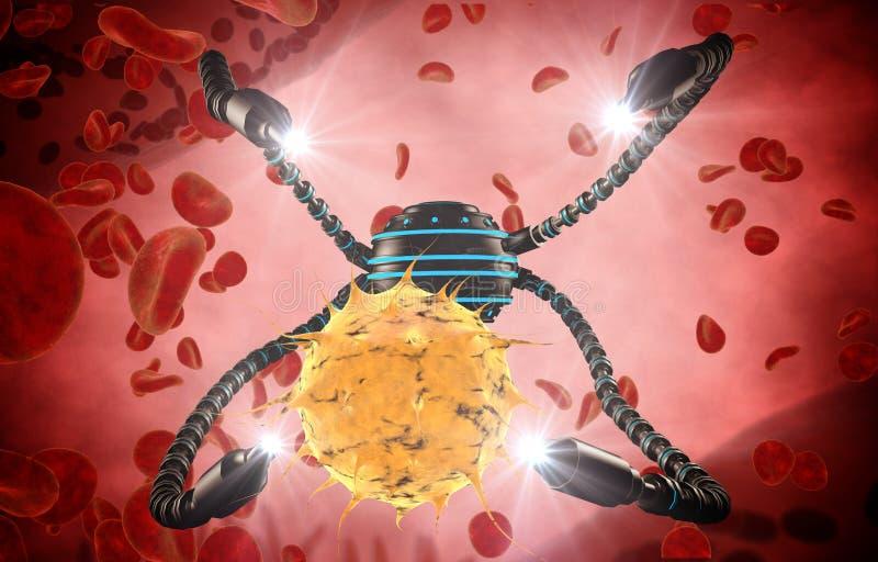 Nanorobot Y Virus, Bacterias, Microbio Futuro Anatómico Del Concepto ...