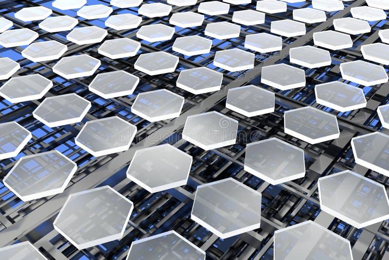 Nanostructures, carbón y silicio imagenes de archivo
