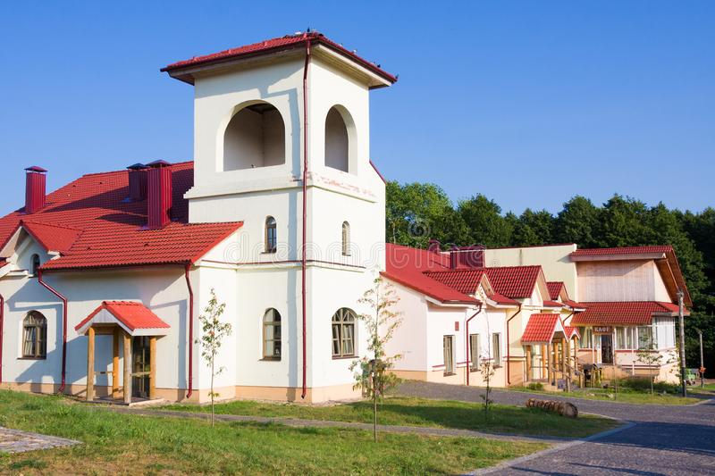 Ethnocultural complex Nanosy-Novoselye. It is historical recreation complex, which makes it pos. Nanosy, Belarus - August 24, 2018: Ethnocultural complex Nanosy royalty free stock photography