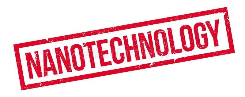 Nanotechnologia pieczątka zdjęcia stock