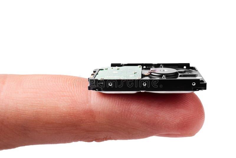 Nanotechnologien: kleines Festplattenlaufwerk lizenzfreie stockfotos