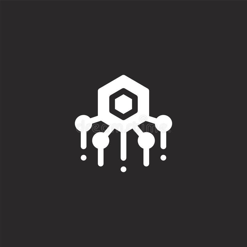nanotechnology icon. Filled nanotechnology icon for website design and mobile, app development. nanotechnology icon from filled stock illustration