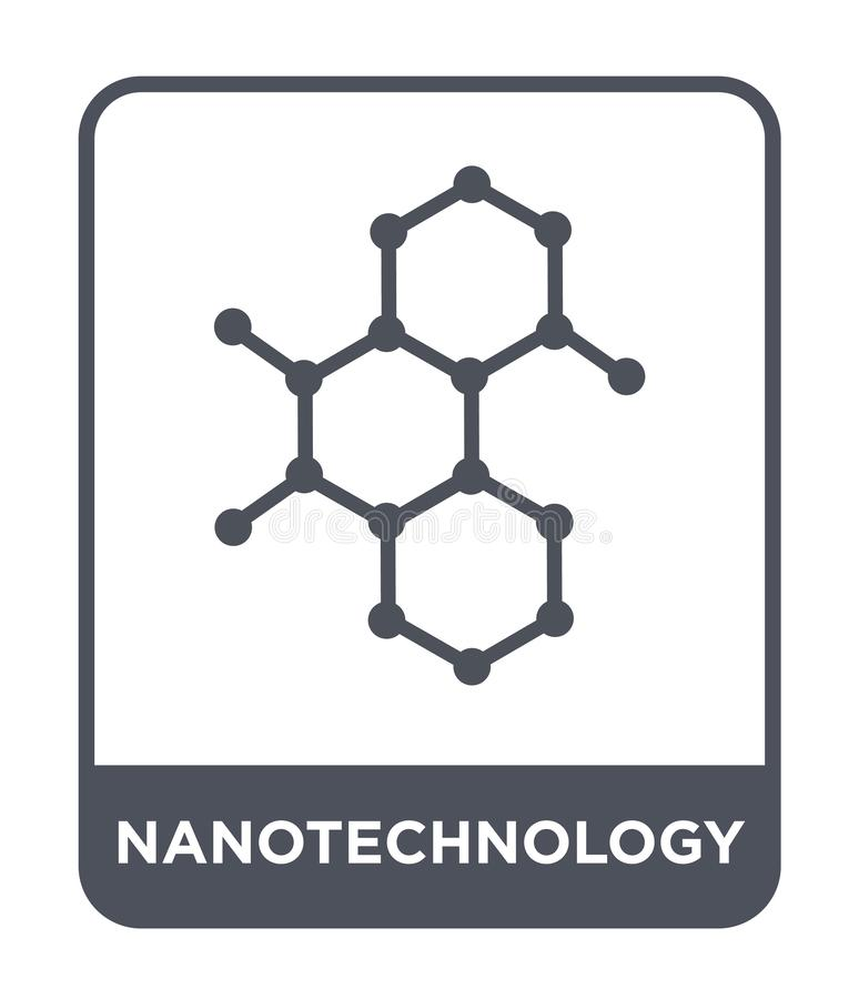 Nanotechnology icon in trendy design style. nanotechnology icon isolated on white background. nanotechnology vector icon simple. And modern flat symbol for web stock illustration
