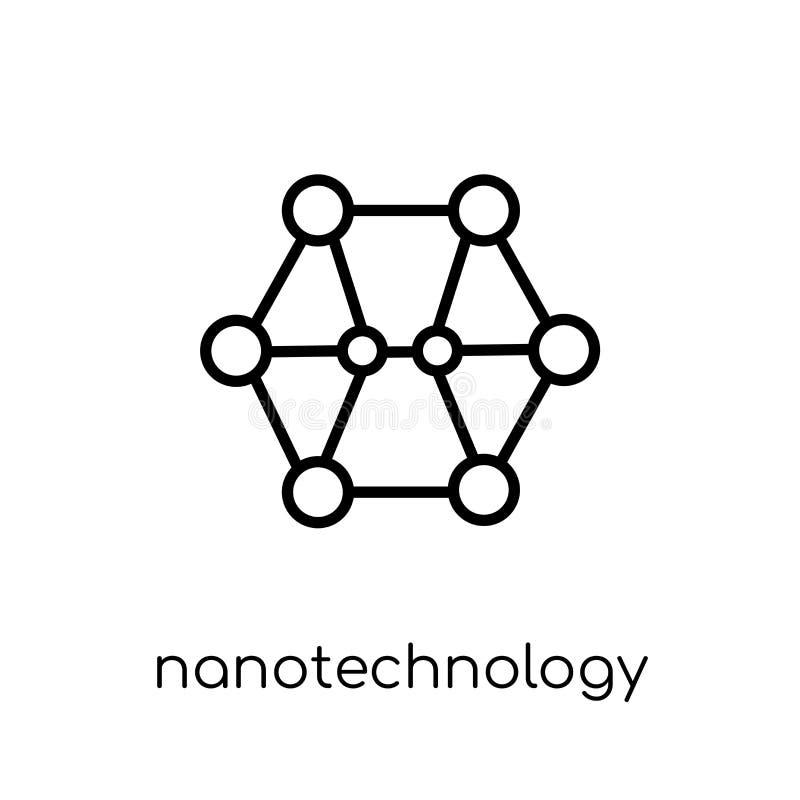 Nanotechnology icon. Trendy modern flat linear vector Nanotechno stock illustration
