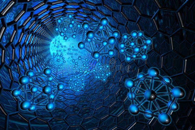 Nanotecnología ilustración del vector