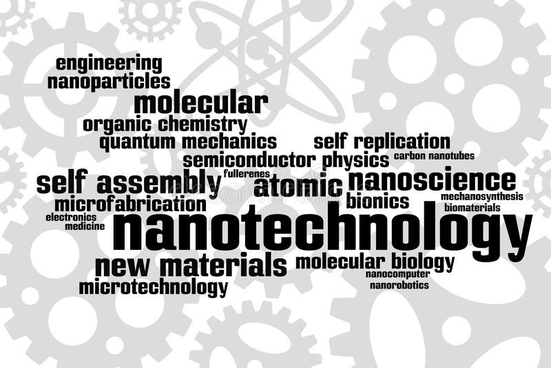 Nanotecnologia illustrazione di stock