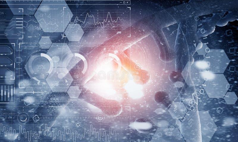 Nanotecnologia e pesquisa da molécula do ADN foto de stock