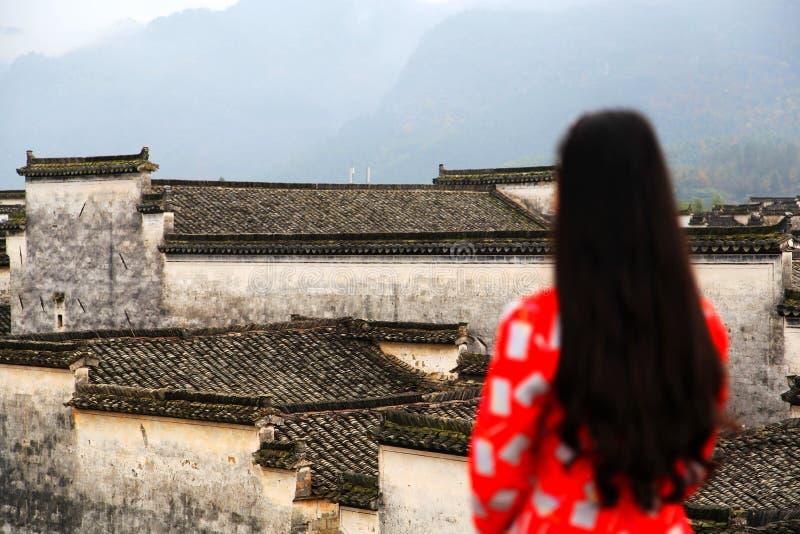 Nanping by, en forntida arkitektur för berömd Huizhou typ i Kina arkivfoto
