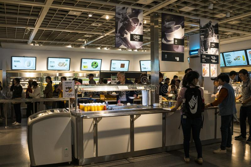 Shenzhen IKEA Mall, restaurant area. IKEA is an originating from a Nordic warehouse chain, it sells assembled furniture and also s royalty free stock photos