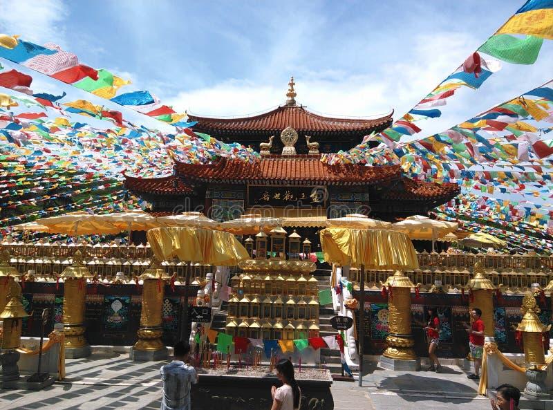 Nanshan-Tempel in Sanya, Hainan in China stockbilder