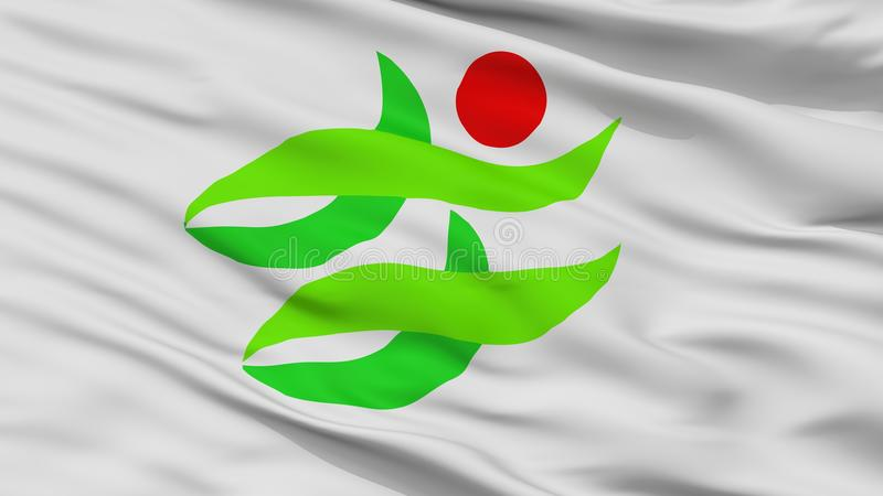 Nantan-Stadt-Flagge, Japan, Kyoto-Präfektur, Nahaufnahme-Ansicht stock abbildung
