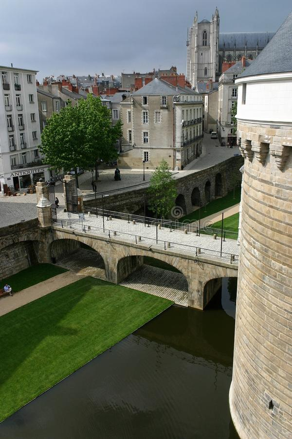Nantes Castle royalty free stock images