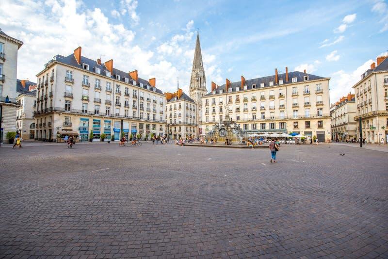 Nantes-Stadt in Frankreich lizenzfreie stockfotografie