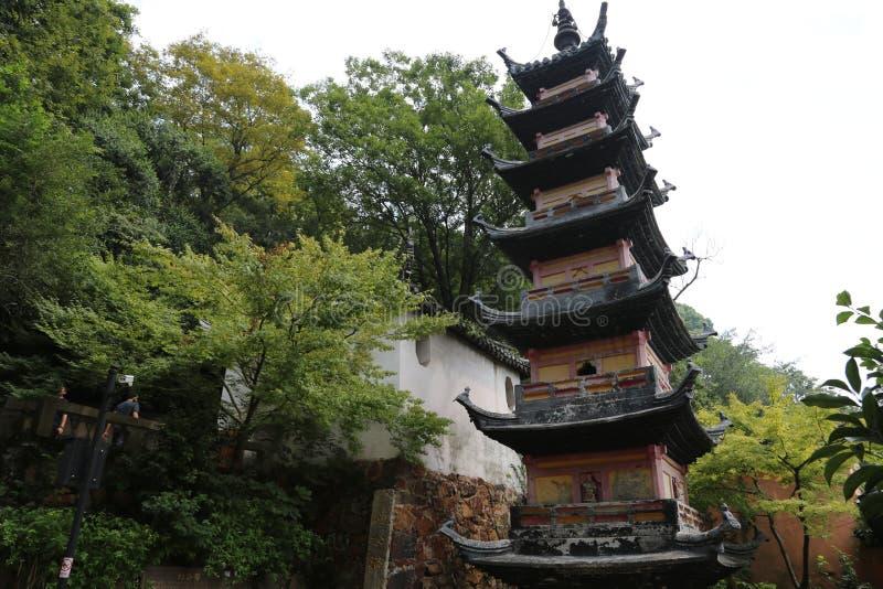 Scenic spot of langshan in Nantong, Jiangsu Province, China. Nantong langshan scenic spot, is located in Nantong city, Jiangsu Province, North Bank of the stock photo