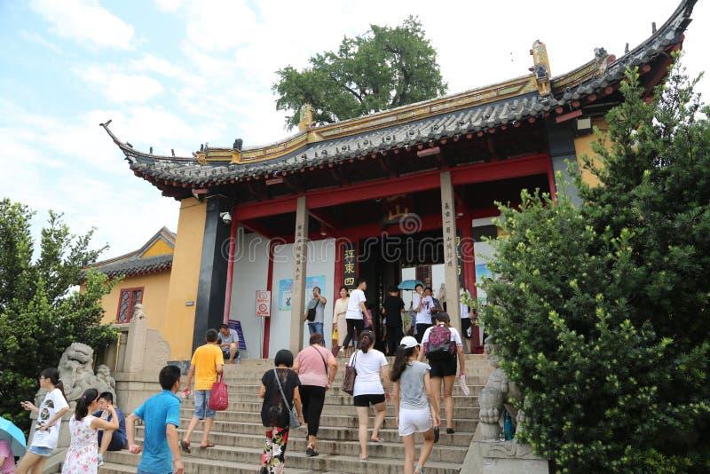 Scenic spot of langshan in Nantong, Jiangsu Province, China. Nantong langshan scenic spot, is located in Nantong city, Jiangsu Province, North Bank of the stock photography
