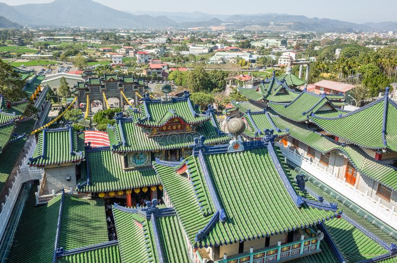 Roofs of famous Baohu Dimu Temple stock image