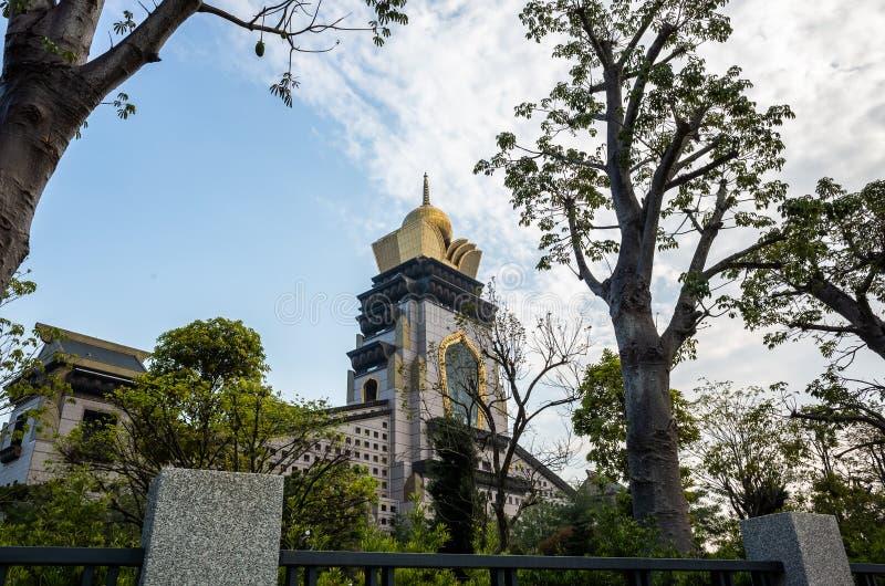 Modern temple of famous Chung Tai Chan Monastery stock photo