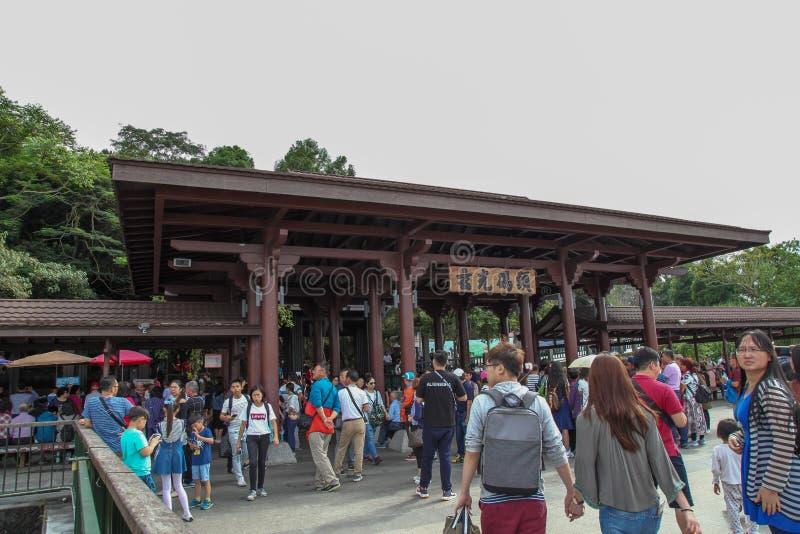 NANTOU, TAIWAN - October 13, 2018:Most People visit at  Xuanguang Temple in sun moon lake, Taipei, Taiwan stock photography